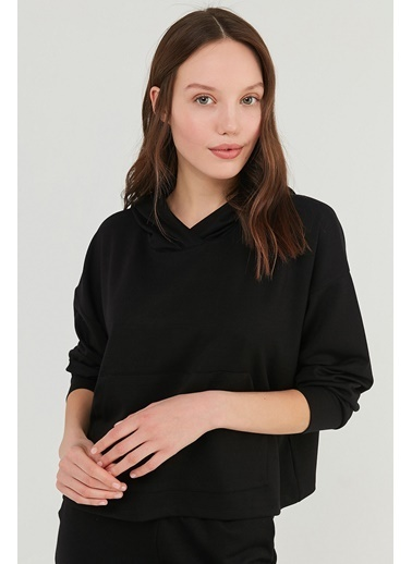 Penti Kadın Siyah Pft Cupro  Sweatshirt PHEH6XS121IY Siyah